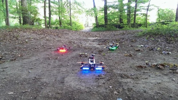 Star Wars Inspired Drone Race Through Forest