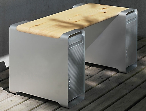 Guy Turned His Old Mac G5s Into Functional Furniture