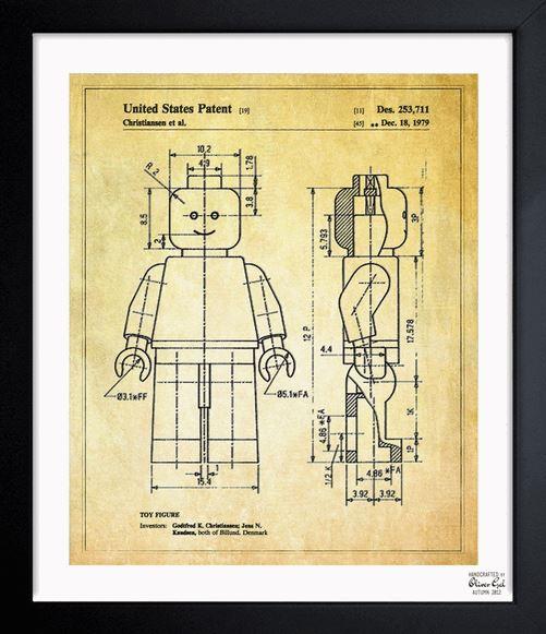 Lego 1979 Toy Figure Print