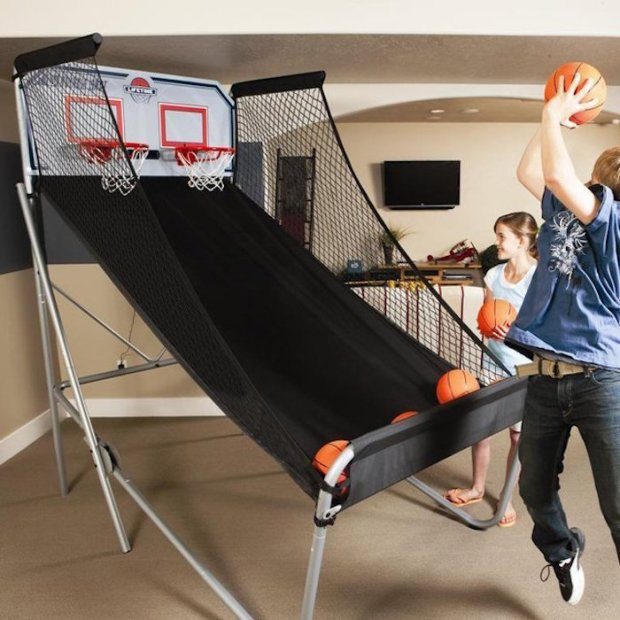 the Double-Shot Arcade Basketball System