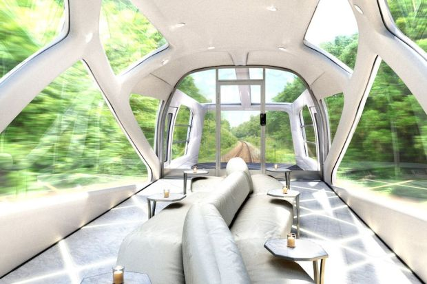 New Luxurious Japanese Train