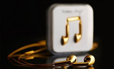 Happy Plugs 18 Carat Gold Earbuds