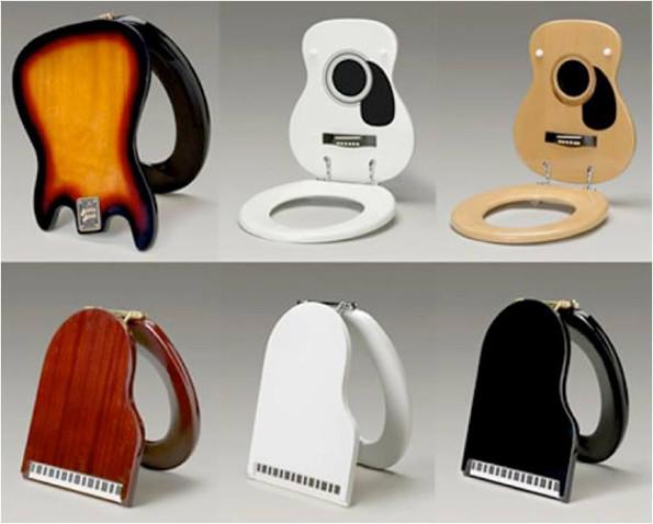 Awesome Guitar & Keyboard Toilet Seats