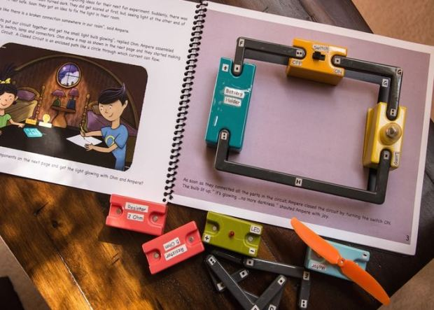 Story Books And Circuits Blocks Combined To Have Some Circuit Fun