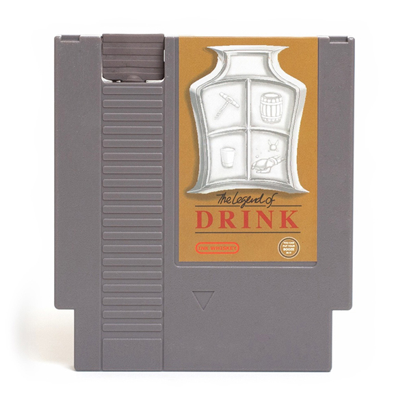 Old NES Video Game Cartridge Flask