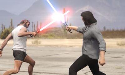 Grand Theft Auto 5 Got Lightsabers