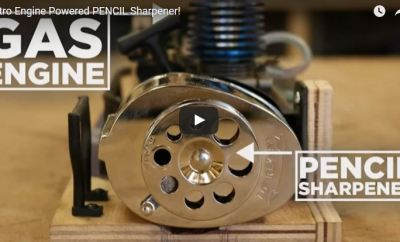 pencil sharpener with nitro engine