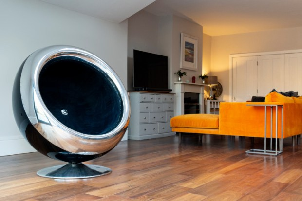 Modern Chair Made Out of a Jet Engine