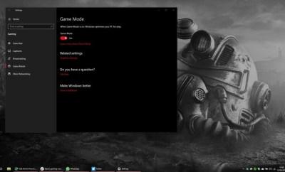 Windows 10's Game Mode