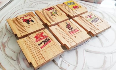 NES Game Cartridge Wooded Coasters