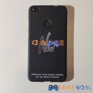 Gumena zaštitna maskica za mobitel s GameNOEL logom crna