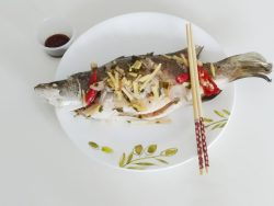 Thai steamed fish recipe with lemongrass,lime,ginger.Thai dipping sauce for steamed fish.