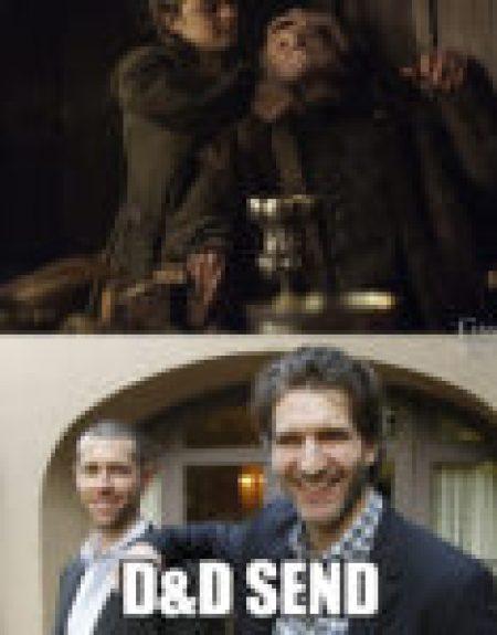 Sono sicuro che l'idea di far uccidere Walder da Arya è di Benioff e Weiss! Li si ama! ♥