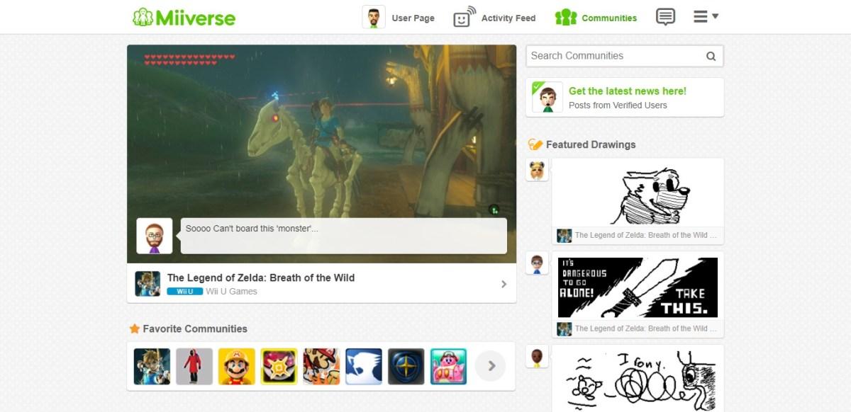 Nueva actualización de Wii U augura el final de Miiverse