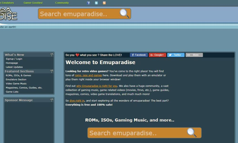 Emuparadise will no longer offer ROM downloads
