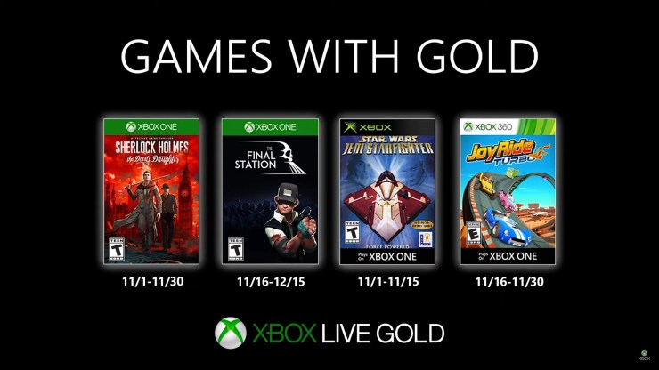 Games With Gold - Xbox - Noviembre 2019
