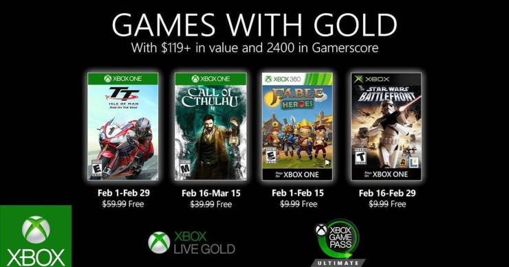 Games With Gold - Febrero 2020