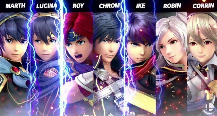 Personajes de Fire Emblem en Super Smash Bros. Ultimate.