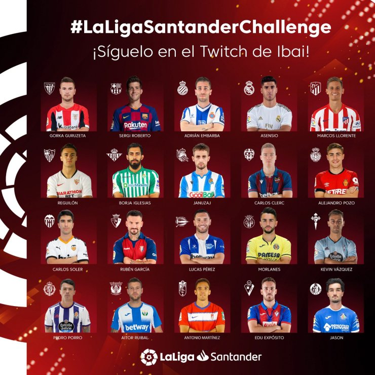 La Liga Santander Challenge jugadores
