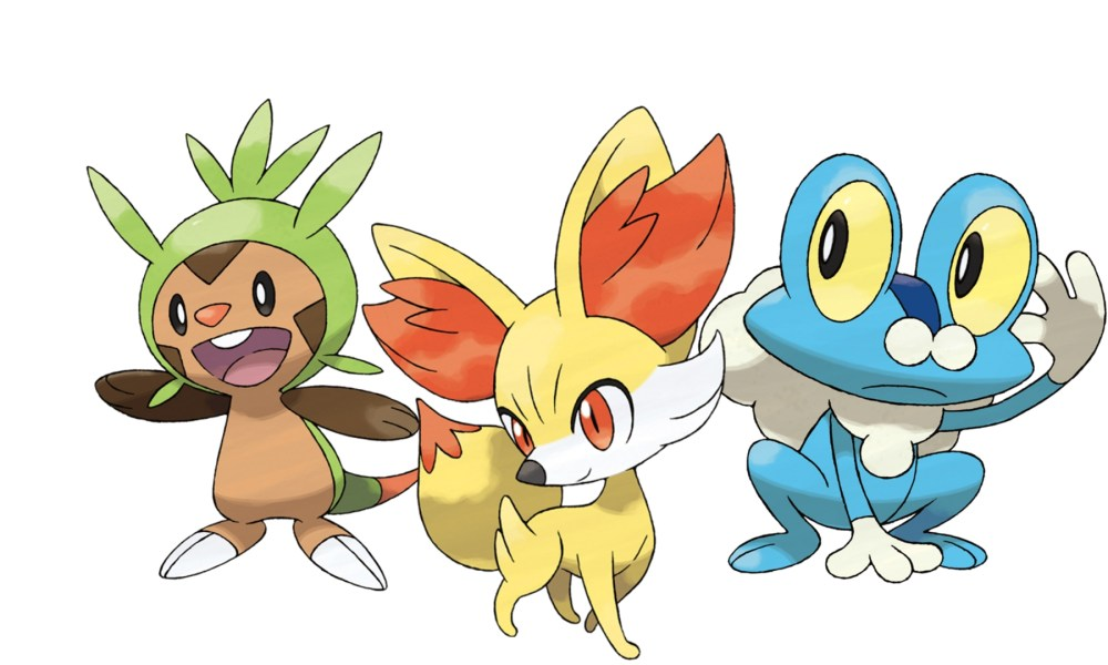 Chespin, Fennekin, and Froakie Pokémon GO