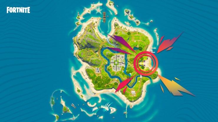 Fortnite Mapa concierto Fiesta Magistral