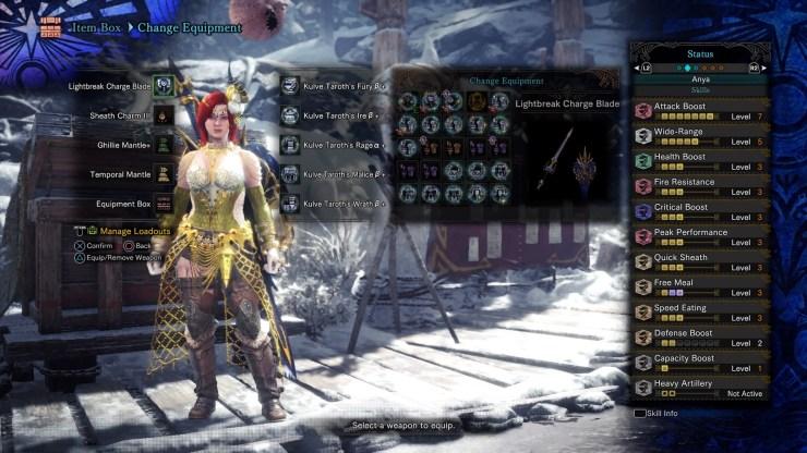 armadura para derrotar a Fatalis