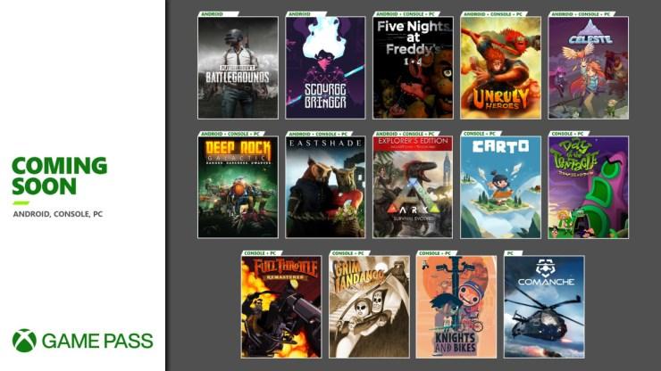 Xbox game pass noviembre