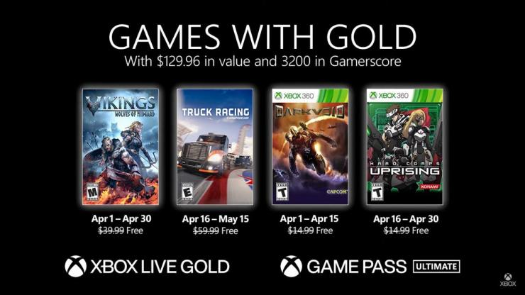 Xbox Live Gold Games With Gold Abril 2021 juegos gratis 360 One Series X
