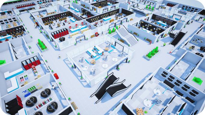En Mall Craze los jugadores diseñarán su propio centro comercial, contratarán empleados y tratarán de satisfacer las necesidades de sus clientes.