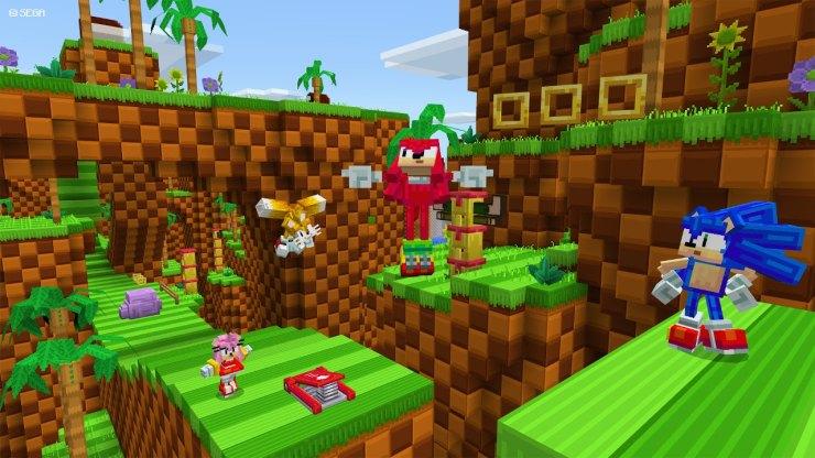 Minecraft Sonic the Hedgehog Sega aniversario 30 DLC