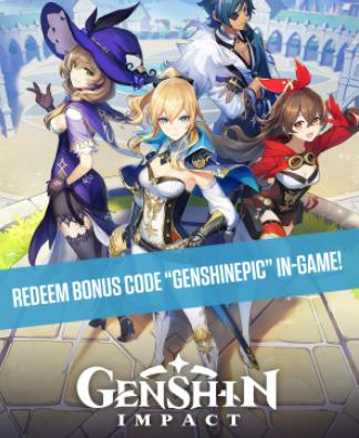 Genshin Impact epic games store juego gratis control código