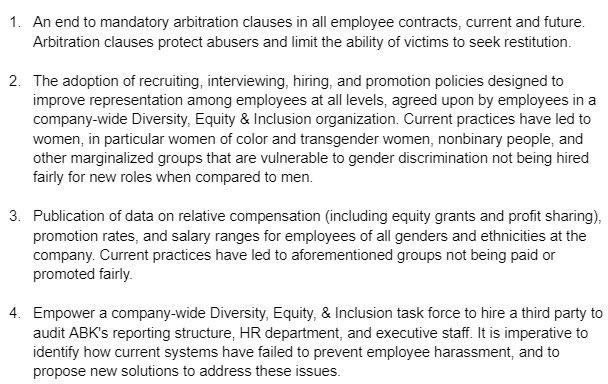 Activision Blizzard demandas demanda nueva empleados acciones coercitivas Wilmerhale