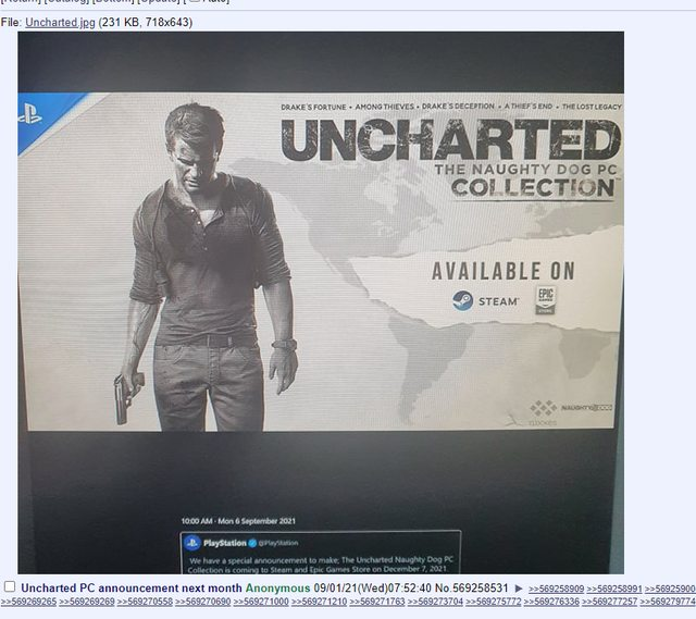 Uncharted The Naughty Dog PC Collection rumor