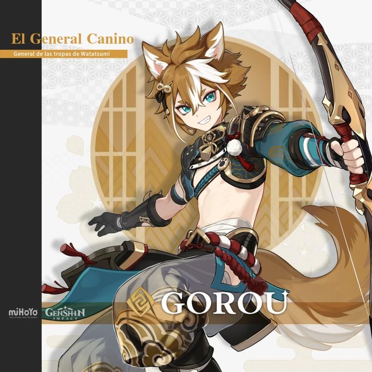 Primera mirada a Arataki Itto y Gorou, los próximos personajes de Genshin Impact