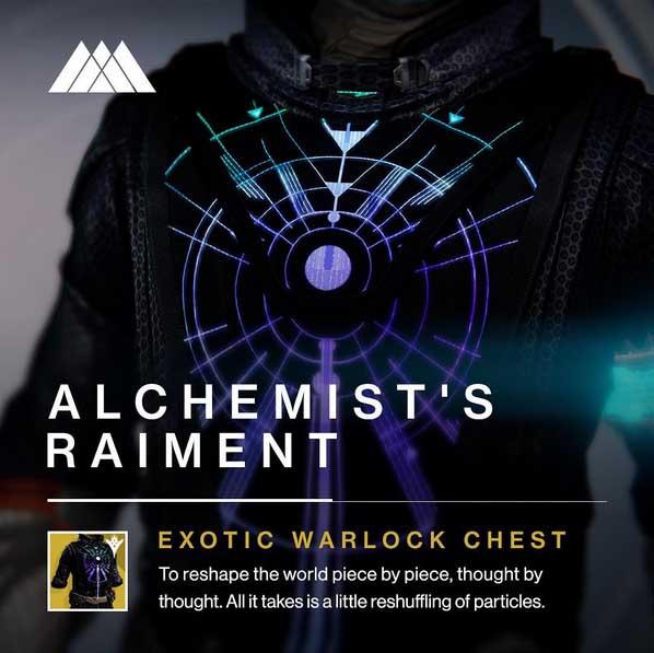 Alchemist's Raiment Exotic Warlock Chest