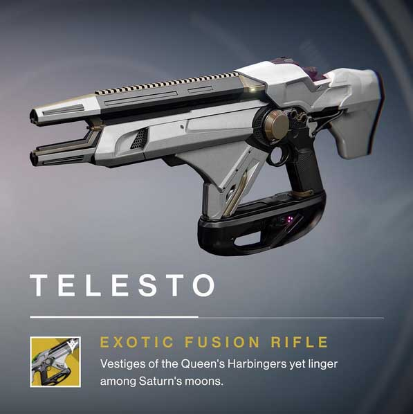 Telesto Exotic Fusion Rifle Destiny The Taken King Inventory