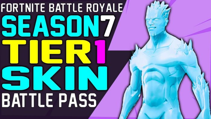 fortnite season 7 battle pass skin for tier 1 revealed - fortnite season 8 battle pass tiers