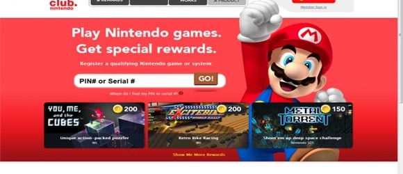 Club Nintendo rewards