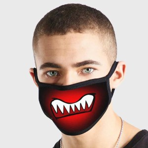 Anime Kawaii Emote Scary Monster Non Medical 3 Ply Face Mask
