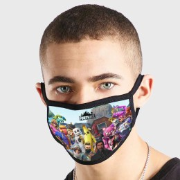Fortnite Characters At Dusty Divot Non Medical 3 Ply Face Mask