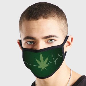 Weed Heartbeat Non Medical 3 Ply Face Mask