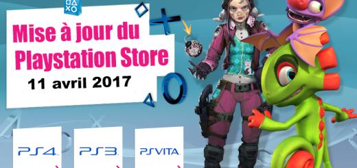 Playstation Store mise à jour du 11/04/2017