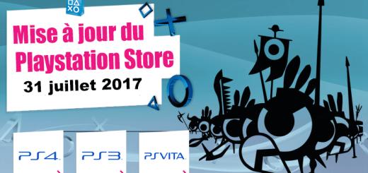 Playstation Store mise à jour du 31/07/2017