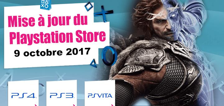 Playstation Store mise à jour 09 octobre 2017