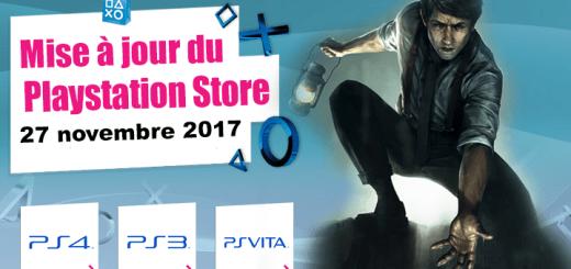 Playstation Store mise à jour du 27 novembre 2017