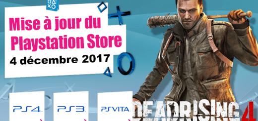 Playstation Store du 4 décembre 2017