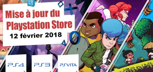 Playstation Store mise à jour du 12 février 2018