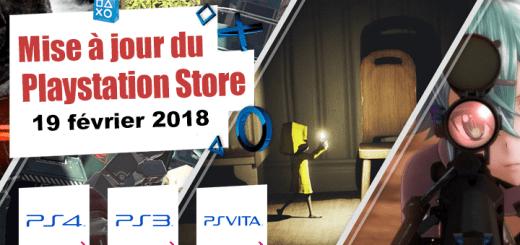 Playstation Store mise à jour du 19 février 2018