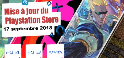 Playstation Store mise à jour du 17 septembre 2018