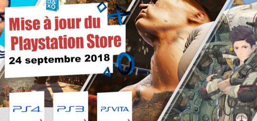Playstation Store mise à jour du 24 septembre 2018